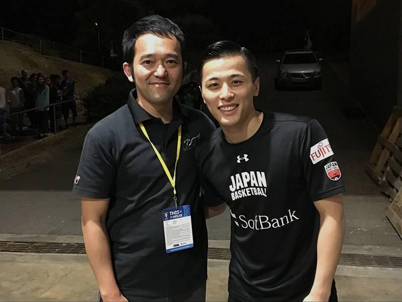 鴨志田さんにとって日本人契約第一号選手となった富樫勇樹選手(©鴨志田聡)