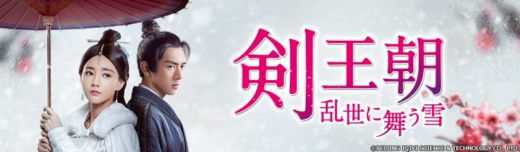 中国ドラマ「剣王朝~乱世に舞う雪~」メインビジュアル