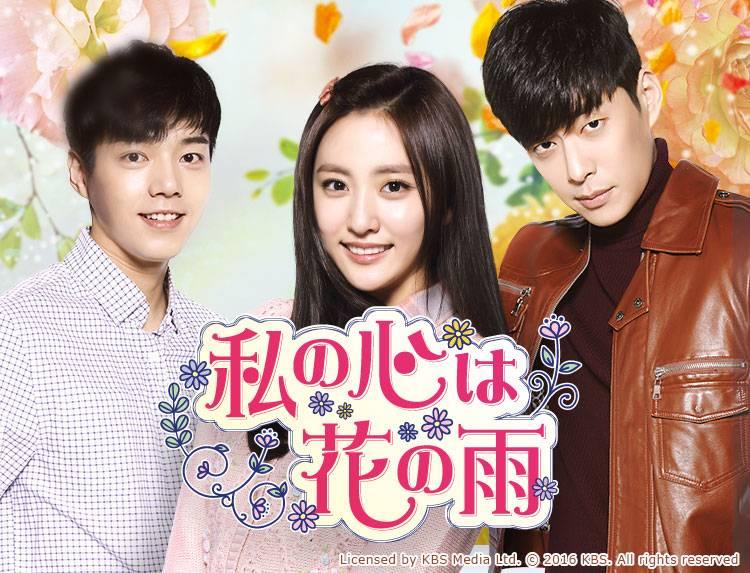 韓国ドラマ「私の心は花の雨」のメインビジュアル