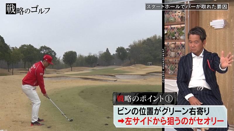 """藤田プロがアドバイス!ゴルゴ松本さんの""""スコアをあげる戦略""""①"""