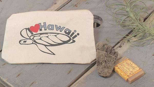 シーライフパークのポーチ&軽石と石鹸のセット