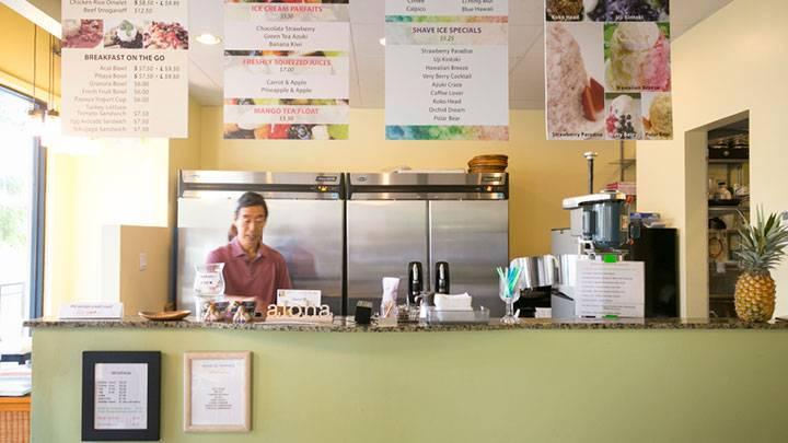 ドラゴンフルーツを贅沢にトッピング カフェ・プルメリア/Cafe Plumeria